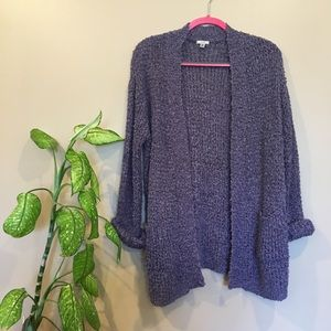 Purple urban outfitters oversized cardigan